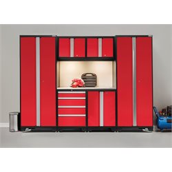 NewAge Products Bold Series 7 Piece Cabinet Set in Red