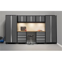 NewAge Products Bold Series 8 Piece Cabinet Set in Gray