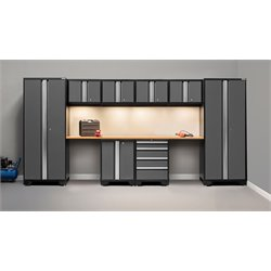 NewAge Products Bold 3.0 Series 10 Piece Cabinet Set in Gray A