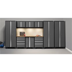 NewAge Products Bold 3.0 Series 10 Piece Cabinet Set in Gray B