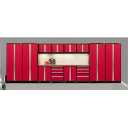 NewAge Products Bold 3.0 Series 14 Piece Cabinet Set in Red