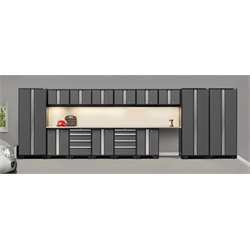 NewAge Products Bold 3.0 Series 16 Piece Cabinet Set in Gray