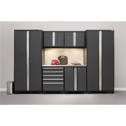 Pro Series 7 Piece Garage Cabinet Set in Gray