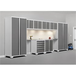 NewAge Pro Series 10 Piece Garage Cabinet Set in White