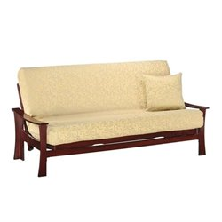 Night and Day Fuji Wood Full Futon Frame in Rosewood