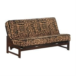 Night and Day Eureka Wood Full Futon Frame in Chocolate