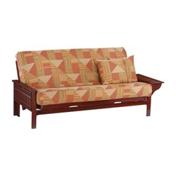 Night and Day Seattle Full Wood Futon Frame in Rosewood