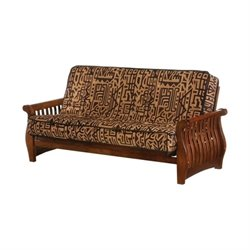 Night and Day Nightfall Full Wood Futon Frame in Black Walnut