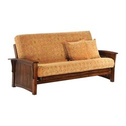 Night and Day Winter Full Wood Futon Frame in Black Walnut