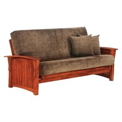 Night and Day Winter Full Wood Futon Frame in Cherry