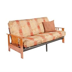 Night and Day Dakota Full Wood and Metal Futon in Cherry