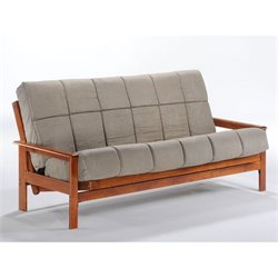 Night and Day Albany Full Wood Futon Frame in Hickory