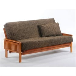 Night and Day Winston Full Wood Futon Frame in Hickory