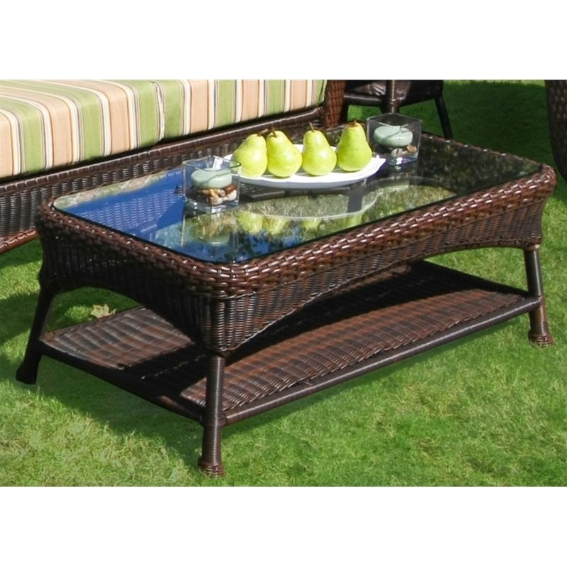 Tortuga Lexington Outdoor Coffee Table In Java Lex Lt1