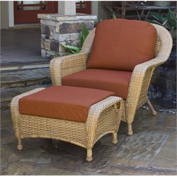 Tortuga Lexington Outdoor Chair with Ottoman