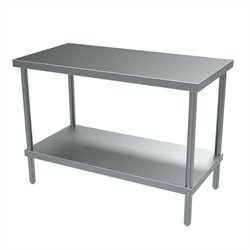 Economy Work Table in Stainless Steel