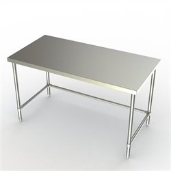 Deluxe Work Table in Stainless Steel