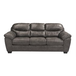 Ashley Havilyn Faux Leather Sofa in Charcoal
