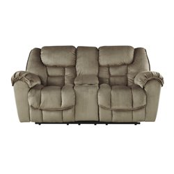 Ashley Jodoca Glider Reclining Loveseat with Console in Driftwood