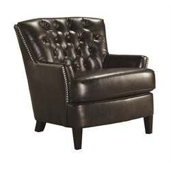 Ashley Jonette Accent Leather Chair in Black