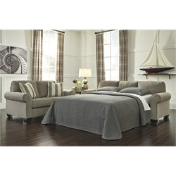 Ashley Baveria Queen Sleeper Sofa in Fog