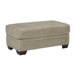 Ashley Barrish Faux Leather Ottoman in Sisal