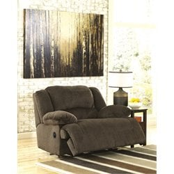 Ashley Furniture Toletta Zero Wall Wide Seat Recliner in Chocolate