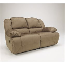 Ashley Hogan Reclining Loveseat in Mocha
