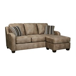 Ashley Alturo Sofa Faux Leather Chaise in Dune