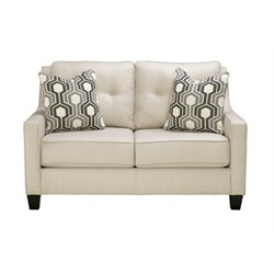 Ashley Guillerno Loveseat in Alabaster