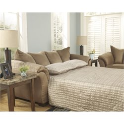 Ashley Darcy Full Sleeper Sofa Bed in Mocha