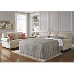 Ashley Sansimeon Queen Sleeper Sofa Bed in Stone