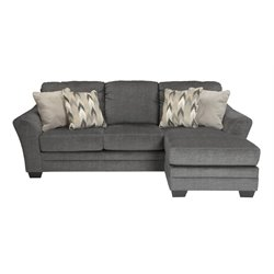 Ashley Braxlin Sofa Chaise in Charcoal