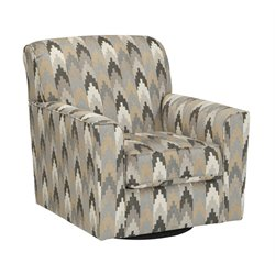 Ashley Braxlin Swivel Accent Chair in Charcoal