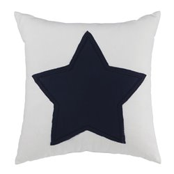 Ashley Furniture Gilead Pillow in White and Navy