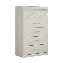 Ashley Dreamur 5 Drawer Chest in Champagne