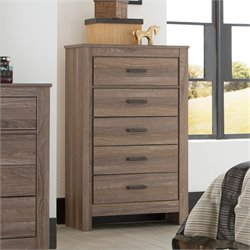 Ashley Waldrew 5 Drawer Chest in Warm Gray