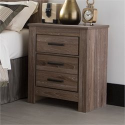 Ashley Waldrew 2 Drawer Night Stand in Warm Gray