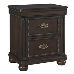 Ashley Moluxy 2 Drawer Night Stand in Dark Brown