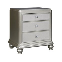Ashley Coralayne 3 Drawer Night Stand in Silver