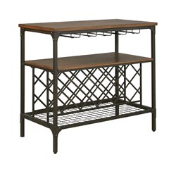 Ashley Rolena Wine Rack Sideboard in Brown