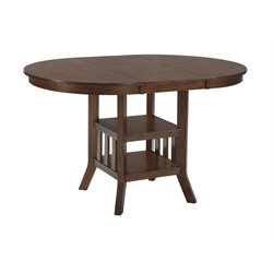 Ashley Renaburg Oval Extendable Counter Height Table in Medium Brown