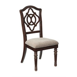 Ashley Leahlyn Upholstered Dining Chair in Red Brown