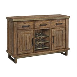 Ashley Dondie Wine Rack Buffet in Warm Brown