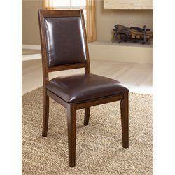 Ashley Holloway Upholstered Dining Chair in Red Brown