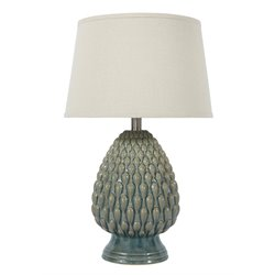 Ashley Saidee Ceramic Table Lamp in Teal
