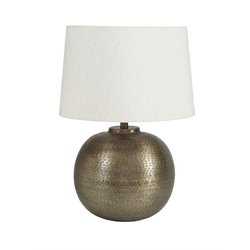 Ashley Darva Metal Table Lamp in Antique Brass