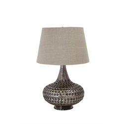 Ashley Sarely Metal Table Lamp in Pewter