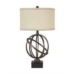 Ashley Shadell Metal Table Lamp in Bronze (Set of 2)
