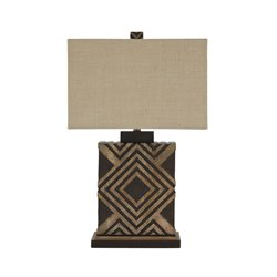 Ashley Sirsa Wood Table Lamp in Natural and Brown